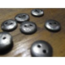 Botones Simil Metal Plata Vieja X 100 Unidades