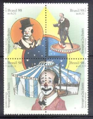 Brasil Estampillas De Circo Brasileño Yvert 2392/95 Mint