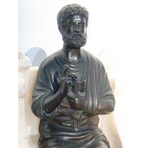 Historical*- Bella Figura San Pedro-bronce Y Alabastro-envio