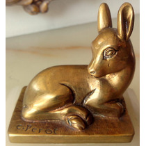 Estatuilla Animalista De Autor Art Deco Escuela Europea