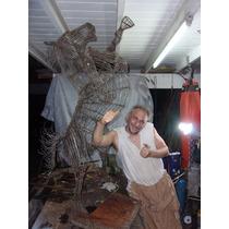 Escultura Del Metal,que Me Pidas De 160cm De Alto A Pedido
