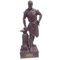 Estatua Escultura En Petit Bronce De Mage Antigua (1155)