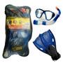 Set Buceo Niños Nat Geographic Snorkel+aletas+mascara+bolso