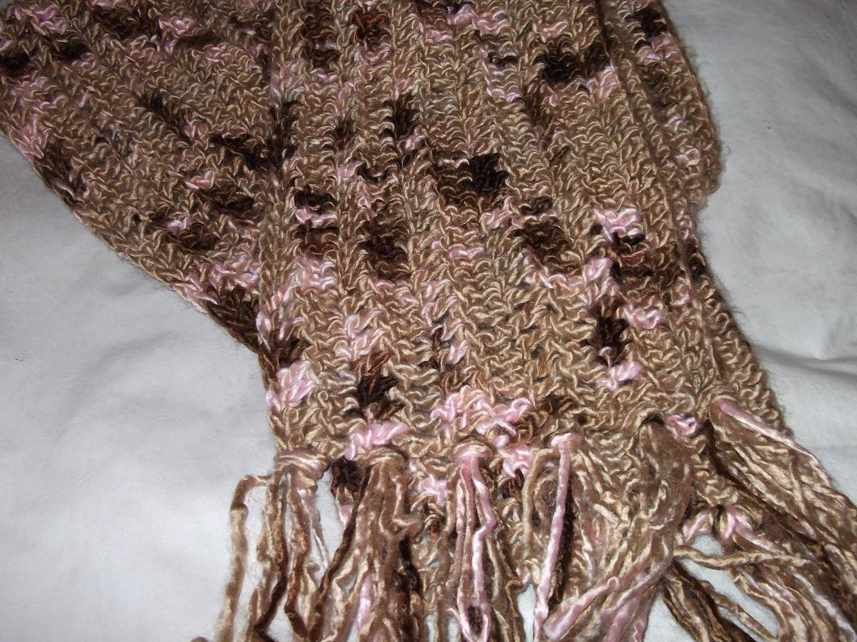 Pin bufandas tejidas a dos agujas tejido pelautscom on - Tejado a dos aguas ...