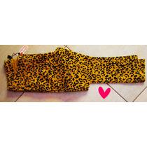 Pantalón Mujer Importado Gabardina Animal Print Leopardo