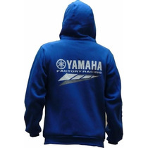 Buzo Yamaha Factory Racing Azul Con Bolsillo Y Capucha