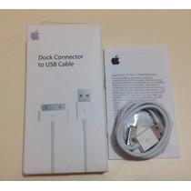 Cable Usb Apple Iphone 4, 4s, Ipad 2, Ipod, Ipad 1 Original