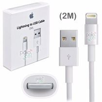 Cable Usb Iphone 5 5s 6 6 Plus Ipad Mini Largo 2mts Original