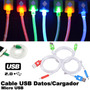 Cable Micro Usb C/luz Para Celular/smartphone/tablet