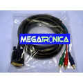 Cable Vga Db15 A 3 Rca Videocomponente Rgb Notebook Proyecto