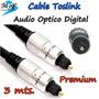 Cable Fibra Óptica Toslink Audio Digital 3mt. Ps3 Dvd Home
