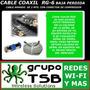 Cable Rg-6 Coaxil De Baja Perdida 2 Mts. Armado C/conector