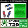 Conectores A Compresion Rg-6 De Baja Perdida X 20 Unid.