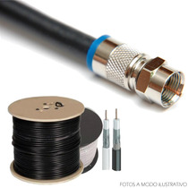 Armado Cable Coaxil Rg-6 C/ Fichas Compresion Profesional Hd