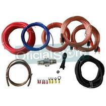 Kit Cables Para Potencias 1200w Rca Procars 8 Gauges! Oferta