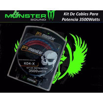 Kit De Cables Monster K04-x Para Potencias 3500watts Oferta!