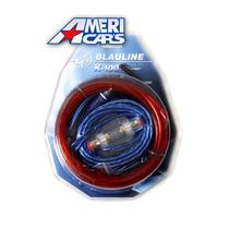 Kit De Cables 10 Gauges K-100 Para Potencias Hasta 1600w