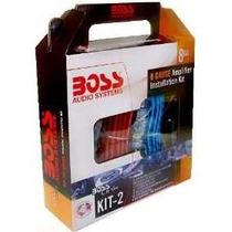 Kit De Cables Boss Kit2 8 Gauges Para Potencias Hasta 1200w