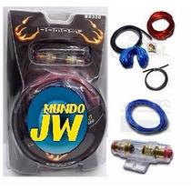 Kit De Cables 4 Gauges Para Potencia 5000w 4 Awg Completo