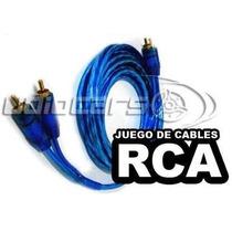Juego De Cables Rca 5 Metros Amplificador Potencia Ktarc20