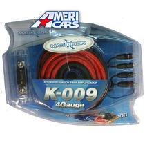 Kit De Cables 4 Gauges K-009 Para Potencias Hasta 5000w