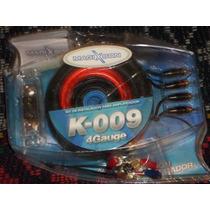 Kit De Cables 4 Gauge Real. Para Potencias Hasta 5000 W