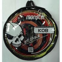 Kit De Cables Monster - 8ga / 1000 W - K08 Linea Cristal