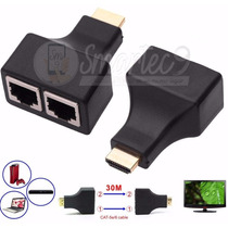 Alargue Hdmi Por Utp Rj45 Extension 30 Metros 1080p Full Hd