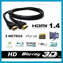 Cable Hdmi 1.4v 3 Mts Full Hd 1080p 3d Pc Notebook Centro!