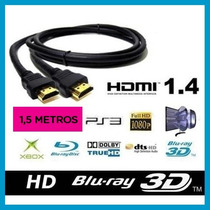 Cable Hdmi 1.4v 1,5 Mts Full Hd 1080p 3d Pc Notebook Centro!