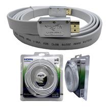 Cable Hdmi Full Hd 1080p 1.4 3d 2 Metros Dorado Plano Nisuta