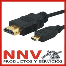 Cable Hdmi A Micro Hdmi 1.5m Full Hd Ideal Motorola Xoom