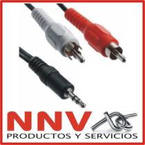 Cable Miniplug 3.5mm Estereo A 2 Rca - 3 Metros - Calidad