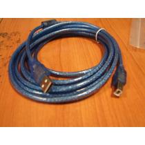 Cable Usb Impresora X 1,5mts Con Filtro