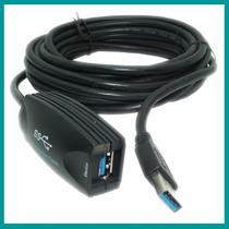 Cable Usb 3.0 5m Nisuta Alargue Con Amplificador Super Speed