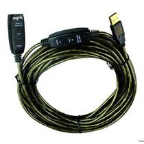 Cable Usb 2.0 Alargue Activo 15m Amplificado Impresora Cam #
