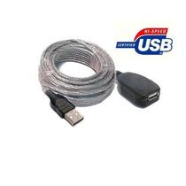 Cable Extensión Usb 2.0 De 5 Metros. Mallado Transparente.