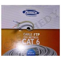 Cable Ftp Cat6 Zurich X 100mts1000mbps 250mhz Doble Mallado