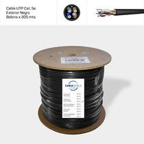 Cable Utp Cat. 5e Exterior Negro - Bobina X 305 Mts.
