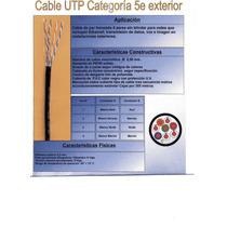 Cable Utp Cat. 5e Exterior Normado X Rollo De 80 Mts.