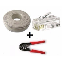 Super Promo! 50mts Cable De Red + Pinza Rj45 Rj11+ 20 Fichas