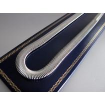 Cadena Collar Medida 50cm. Gargantilla Snake, En Funda Felpa