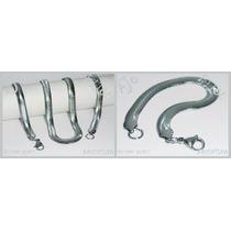 Combo Cadena Y Pulsera Acero Quirúrgico Modelo Snake 6 Mm