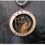 Medallón De San Expedito Oro 14gf 3 Cm Diam Con Cadena 50 Cm