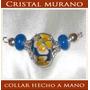 Aros Y Collares-joyas En Cristal Murano Hechas A Mano