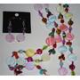 Collar Isadora Multicolor Pastillas. Aros De Regalo