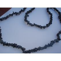 Collar Piedras Semipreciosas Obsidiana