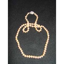 Collar De Perlas Naturales 5 Milimetros Color Chanpan