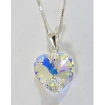 Corazon Cristal Aurora Boreal Swarovski-elements.