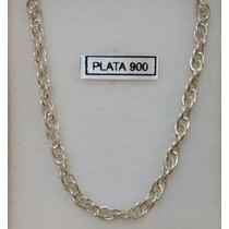 Cadena Gruesa De Plata 900 - Largo 45 Cm